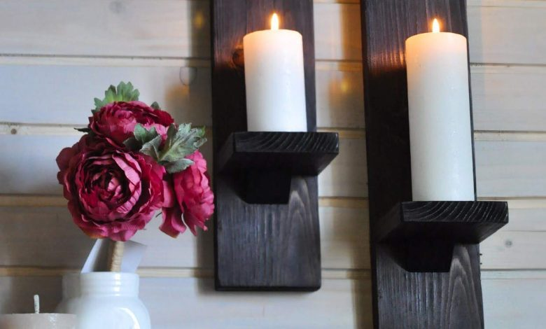 candle holder for wall