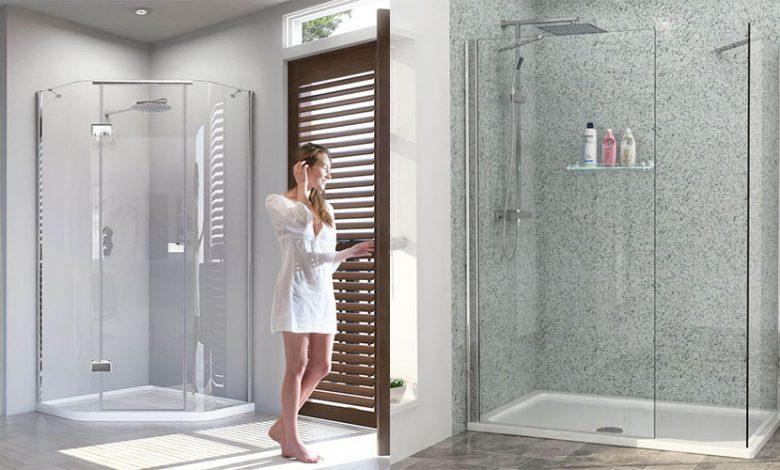 bathroom glass doors