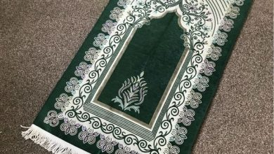 Photo of Green and Gold Muslim Prayer Mat | Gift Islamic