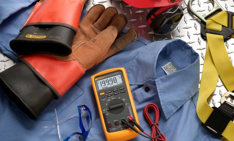 safety equipment for electrical works